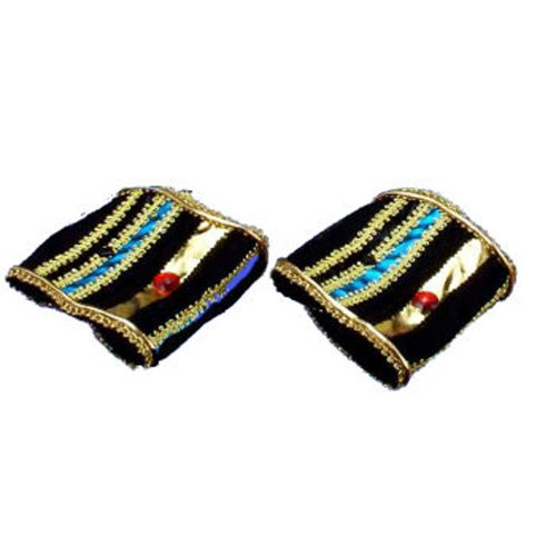 [Forum Novelties Incredible Character Egyptian Costume Wrist Bands Pair] (Halloween Accessories)