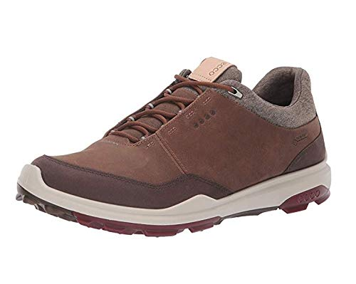 (ECCO Men's Biom Hybrid 3 Gore-TEX Golf Shoe, Camel Yak Nubuck, 12 M)