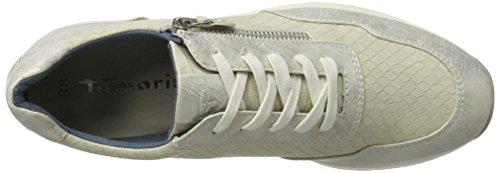 Tamaris Femme Basses Sneakers Comb Offwhite 23684 Ivoire rpqwxtrE