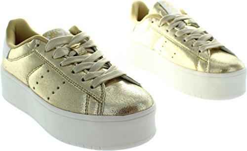 XTI 46986, Sneaker donna oro Gold