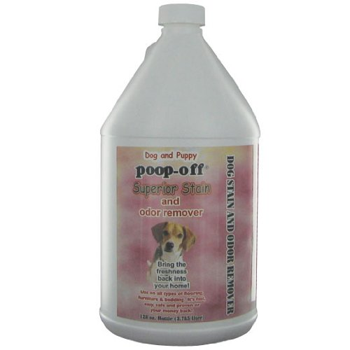 Poop-Off Superior Stain and Odor Remover Refill for Dogs and Puppies, 128-Ounce