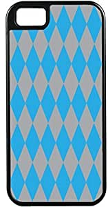 Blueberry Design Apple iPhone 5 Case iPhone 5S Case Diamond Pattern Design Sky Blue and Grey - Ideal Gift
