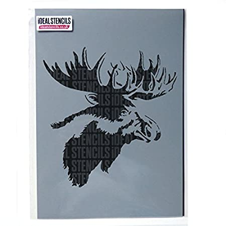 Moose Head Stencil Moose Elk Home Decor Art Craft Stencil