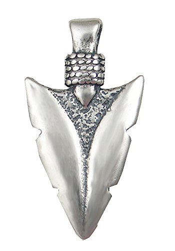 Sterling Silver Wide Arrowhead of the Ancients Pendant