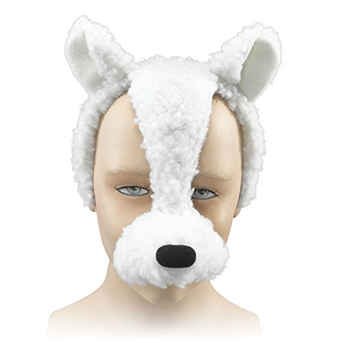Bristol Novelty EM255 Lamb Mask And Sound on Headband, Multi-Colour, One -