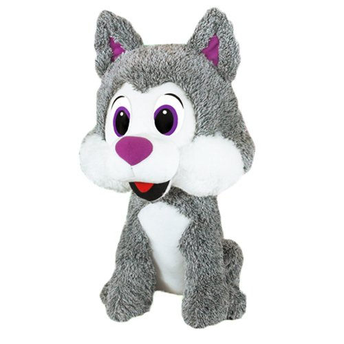 Purple Eyes RetailSource Ltd 4-492-PUR Frosty The Husky 15 in Plush Collectible Toy