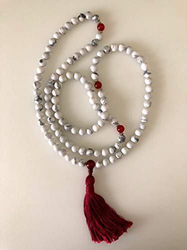 Carnelian White Necklace - 1