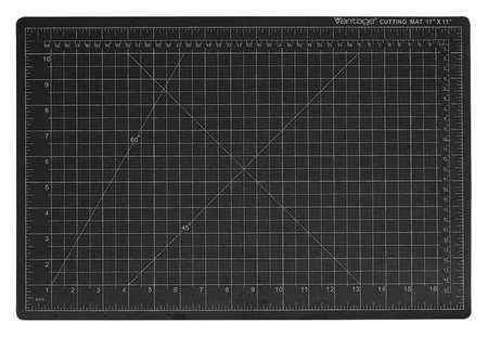 Cutting Mat, 24x18 in, Black (Cutting Vantage Mat)