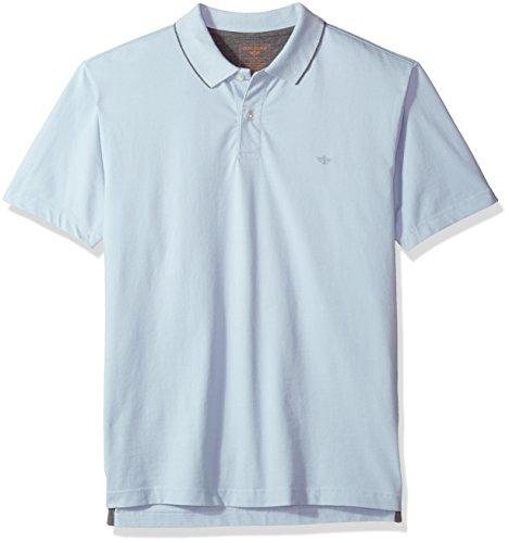 Dockers Men's Performance Polo Short Sleeve, Skyway, L