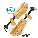 Plixio Two-Way Shoe Stretchers, Adjustable Wooden Shoe Expander for Men & Women