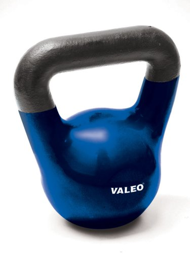 Valeo 35-Pound Kettle Bell Weight With Cast Iron Handle For Squats, Pulls and Overhead Throws To Build Strength And Endurance