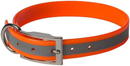 OmniPet Sunglo Reflective Regular Dog Collar, 1 x 23, Orange by OmniPet