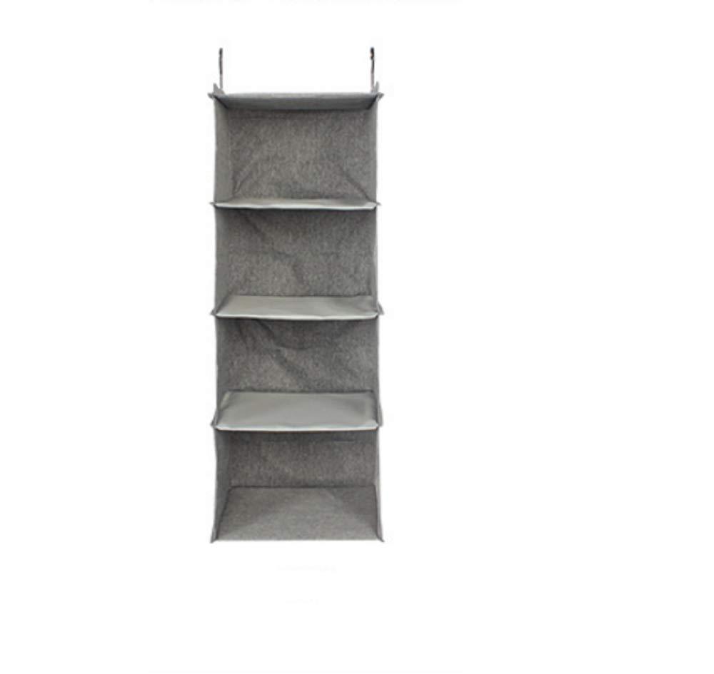 INTRO 4 Shelves Hanging Closet Organizer,Gray [Energy Class A]