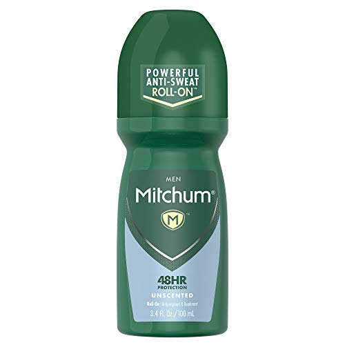 Mitchum Men Antiperspirant & Deodorant Rollon, Unscented, 3.4oz.