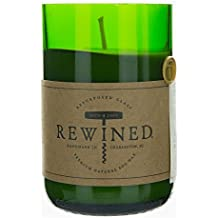 Recycled Wine Bottle 60-80 Hour Soy Wax Candle - Wine Under the Tree by Rewined