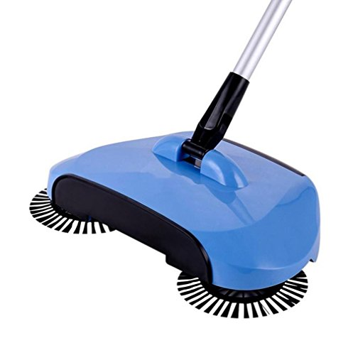 Floor Mount Manual (Kshion New Arrival 360 Rotary Home Use Magic Manual Telescopic Floor Dust Sweeper (Blue))