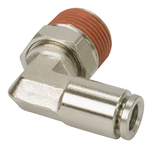 VIAIR 11448 1/4'' NPT(M) to 1/4'' Airline 90 Degree Swivel Elbow Fitting (DOT Approved), 4 Pack