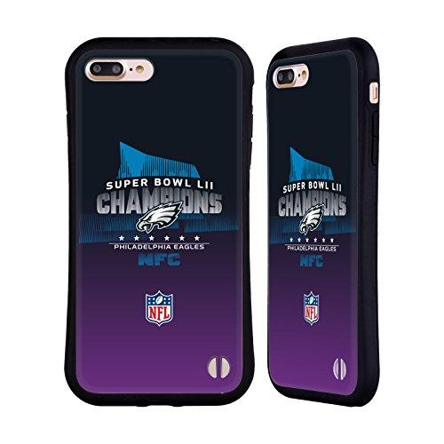 Official NFL Philadelphia Eagles 4 2018 Super Bowl LII Champions Hybrid Case for Apple iPhone 7 Plus / iPhone 8 Plus