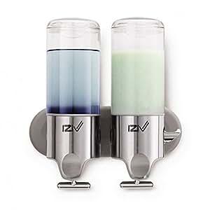 iZiv(TM) Delicada Vida 1000ml Dispensador de Jabón de Pared Liquido Dispenser Plástico ABS Acero Inoxidable