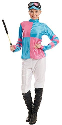 Horse And Jockey Costume (PINK AND BLUE JOCKEY GIRL)