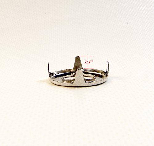 DOT Common Sense Eyelet w/ Backing Plate, Marine Grade Nickel Plated Brass (20 Piece Set) by Dot Scoville (Image #2)
