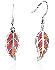 Opalmaster 925-Sterling white-gold-plated-silver round-brilliant-shape opal