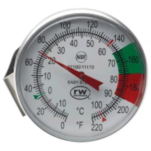 1.75'' Frothing Thermometer with 7'' Stem, Face Clip, Steam Milk ES11170