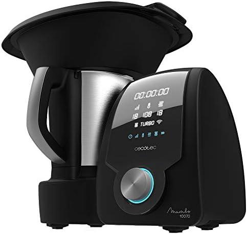 Cecotec Robot da cucina multifunzione Mambo 10070. Con App, cucchiaio MamboMix, 30 funzioni, bilancia incorporata, caraffa in acciaio inossidabile da 3,3 l, velocità zero, cestello per bollire.