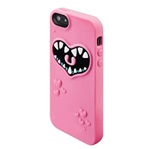 SwitchEasy SW-MONI5-P Monsters Silicone Case for iPhone SE , iPhone 5s and iPhone 5 - Pinky  - 1 Pack - Retail Packaging