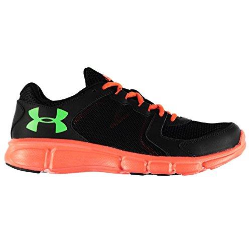 Under Armour Thrill 2scarpe da corsa da uomo, colore: Nero/arancione fitness ginnastica, Black/Orange