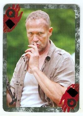 - Merle Dixon Walking Dead trading card Poker Queen Michael Rooker
