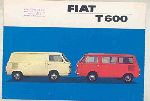 (1965 Fiat 600 T600 Van Kombi Truck Brochure German)