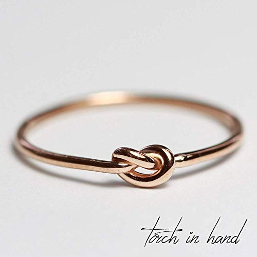 Solid 18k Gold Stacking Knot Ring