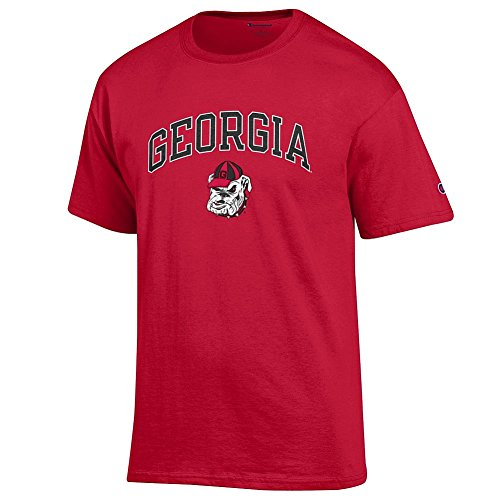Elite Fan Shop Georgia Bulldogs Tshirt Varsity Red Dawg - Large