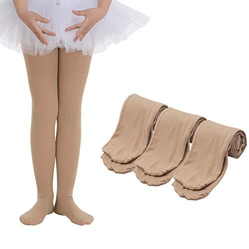 - Ehdching Pack of 3 Kids Toddler Girls Baby Soft Microfiber Ballet Dance Tights Velvet Stockings Pantyhose (S (1-3y), 3 pack Light Suntan)