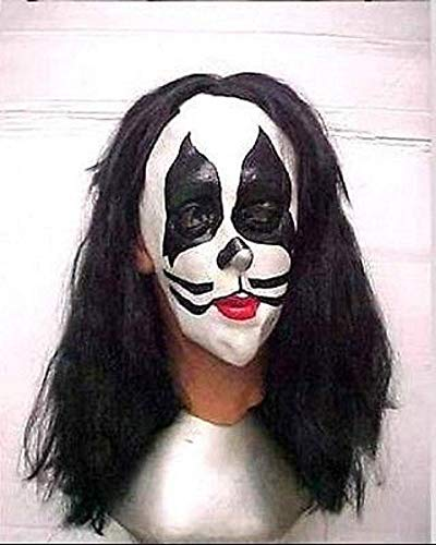 Illusive concepts Vintage Kiss Peter Criss Full Latex Mask with Hair 1997 ()
