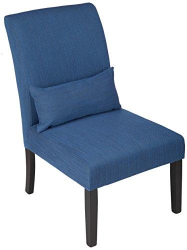 Ashley Furniture Signature Design - Sesto Accent Chair w/Pillow - Contemporary - Blue - Black Finish Legs (Contemporary Accent Pillows)