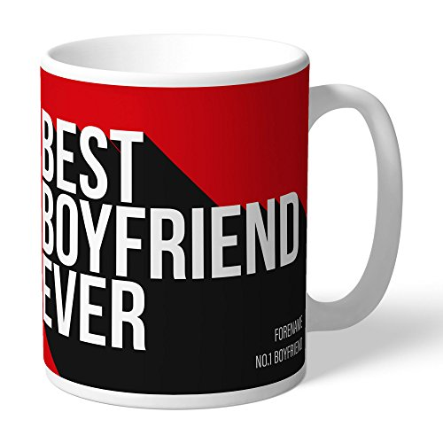 Manchester United Official Personalized FC Best Boyfriend Ever Mug - FREE PERSONALISATION by Manchester United
