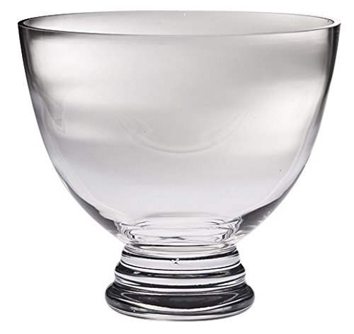 Bowl Decorative Footed (Majestic Gifts Handmade Lead Free Crystal Footed Bowl, X-Large, Clear)