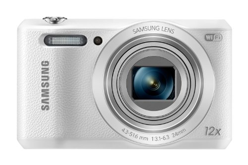 Samsung WB35F 16.2MP Smart WiFi & NFC Digital Camera with 12x Optical Zoom and 2.7' LCD (White)