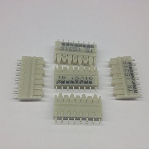 S110D-4 Connecting Blocks, 4 Pair 110 Punchdown to Solder Tail, No Color Code (5 per pack)
