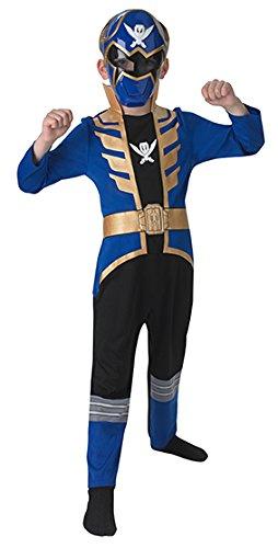 Megaforce Blue Ranger Kids Costumes (Blue Super Megaforce Power Ranger - Kids Licensed Costume 5 - 6 years)