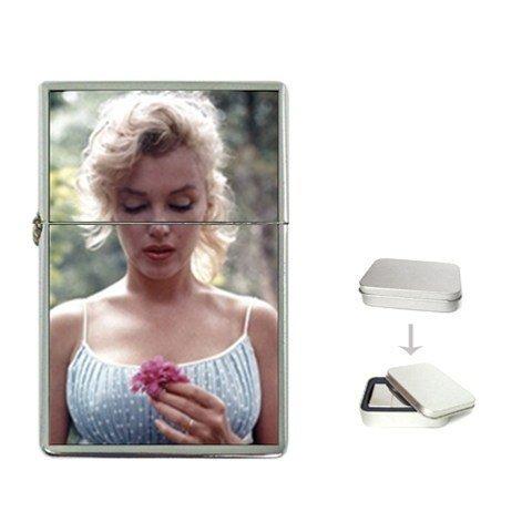 New Product MARILYN MONROE INNOCENT FLOWER Flip Top Cigarette Lighter + free Case Box
