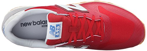 New Balance 696 Hybride Pack Style De Vie Sneaker Rouge / Gris