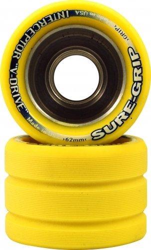 Interceptor Quad - Sure-Grip Interceptor Wheels Yellow