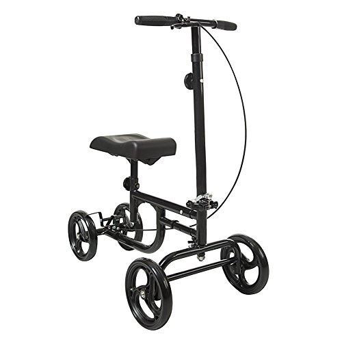 ELENKER Economy Knee Walker Steerable Madical Scooter Crutch Alternative (Knee Crutch)