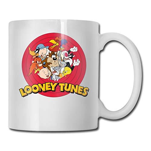 Honchosfx Looney Tunes Coffee Mug White One Size Novelty Cups Travel Mug for Men & Women