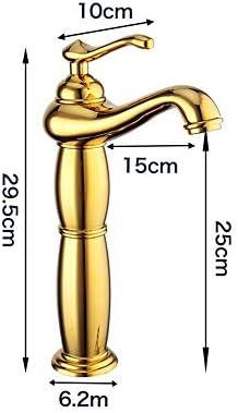 蛇口 ヨーロピアンスタイルのフル銅ゴールデンツーセクション魔法のランプ流域の蛇口温水と冷水の蛇口 キッチンとバスルームに適しています (Color : Gold, Size : AS PICTURE)