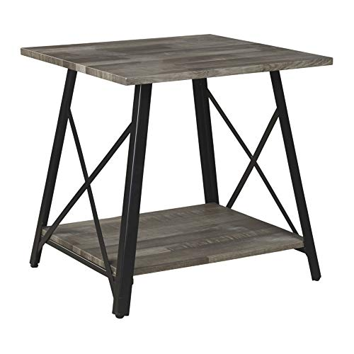 Signature Design by Ashley – Harzoni End Table, Grayish Brown