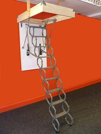 Tijeras escalera para desván 1100 x 700 mm marco; 2,4 m - 2,8 m distancia entre techo y suelo alturas Loft Rebecca hose: Amazon.es: Bricolaje y herramientas